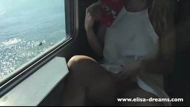 Flashing my pussy and butt in public in Italy