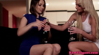 Euro lesbian licked out by gorgeous escort