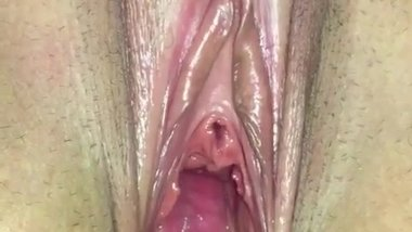 Proudly showing off my wife Katherine's huge cunt cavity and butthole