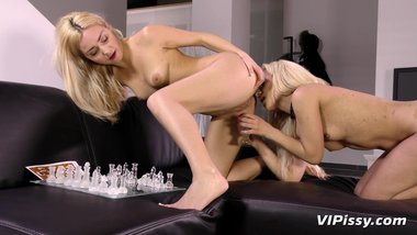 Stunning milfs indulge in extreme lesbian pissing
