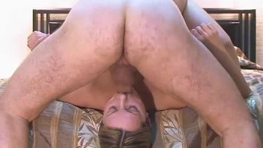 Blonde girlfriend can't be satysfied with her bf's too small & limp cock !