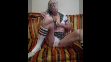 Naughty MILF in my school girl outfit... I love smoking 420