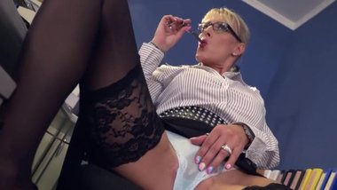 LANA VEGAS German Office Slut