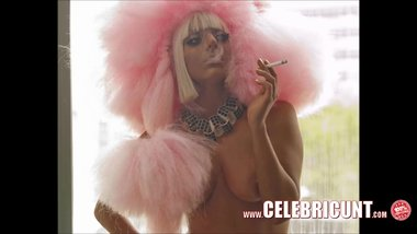 Loony Lady Gaga Naked Celebrities Boobies & Pussy Collection
