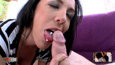 Hot french Milf giving a tasty blowjob to Terry Kemaco