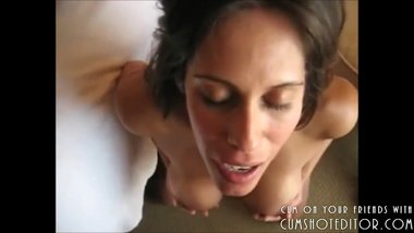 Filling Up Her Mouth With Cock And Cum POV