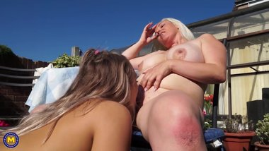 British lesbian housewife has sex with a hot young babe