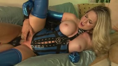 Big Tit MILF Fucks Sex Slave In Latex