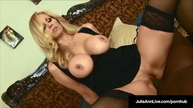 Mega Milf Julia Ann Milf & Rico Shades - Black Cock & Cum In My Mouth!