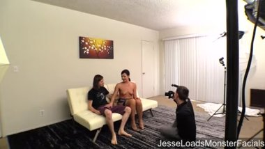 Helena Price bj swallow with Connor Coxx BTS