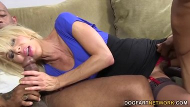 Blonde Cougar Erica Lauren Loves Black Cock