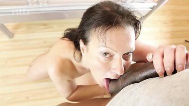 Fit white milf gets her shaved pussy pounded hard by her bbc