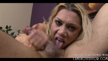 Hot Blonde Sloppy Throatfuck Part1