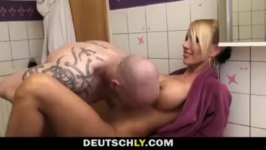 GERMAN BLONDE FUCKED BY BOYFRIEND IN LAUNDRY ROOM