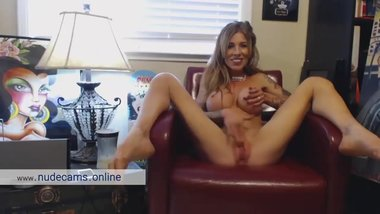 Perfect body big tits MILF home alone dreaming of cock. Hot webcam