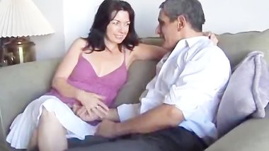 Amateur older couple fucking in homemade